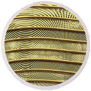 Grate Of Yellow Round Beach Towel