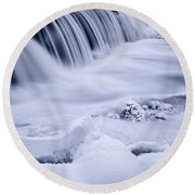 Graue Mills Falls Round Beach Towel