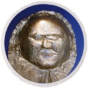 Grave Mask Round Beach Towel