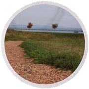 Gravel Path Round Beach Towel