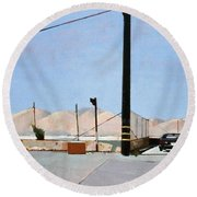 Gravel Piles Downtown La Round Beach Towel