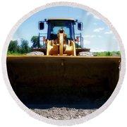 Gravel Pit Cat 972g Wheel Loader 01 Round Beach Towel