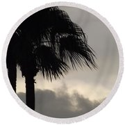 Gray Round Beach Towel