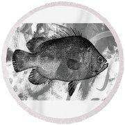 Gray Fish Round Beach Towel