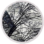 Gray Repetitions Round Beach Towel