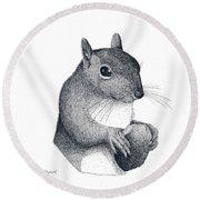 Eastern Gray Squirrel Round Beach Towel