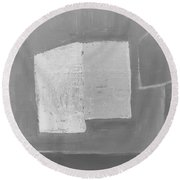 Gray-white Abstract Round Beach Towel