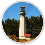 Grays Harbor Light Station Round Beach Towel