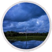 Grean Cay Storm 4 Round Beach Towel