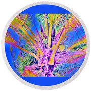 Great Abaco Palm Round Beach Towel