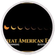 Great American Eclipse 2 Round Beach Towel