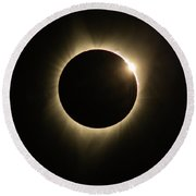 Great American Eclipse Diamond Ring 5x7 As Seen In Albany, Oregon. Round Beach Towel