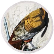 Great American Turkey Round Beach Towel