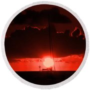 Great Ball Of Fire Round Beach Towel