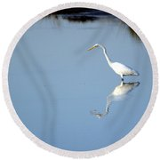 Great Blue 2 Round Beach Towel