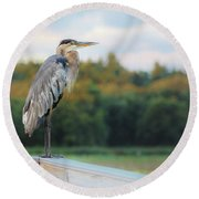 Great Blue Great View Great Meadows Round Beach Towel
