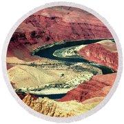 Great Color Colorado River Round Beach Towel