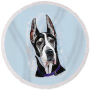 Great Dane Round Beach Towel