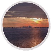 Great Egg Harbor Ocean City New Jersey Round Beach Towel