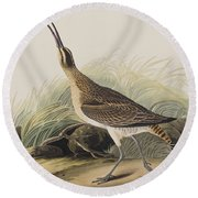 Great Esquimaux Curlew Round Beach Towel