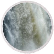 Great Falls Of Paterson Nj Round Beach Towel