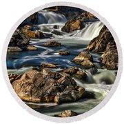 Great Falls Overlook #5 Round Beach Towel