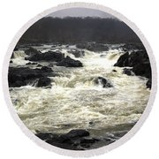 Great Falls Potomac River Maryland Round Beach Towel