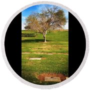 Great Grandma Buried Round Beach Towel