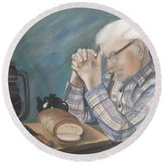 Great Grandpa Round Beach Towel