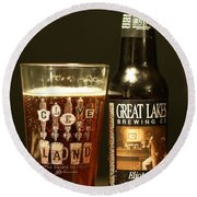 Great Lakes Brewery  Round Beach Towel