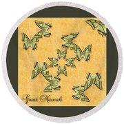 Great Nawab Butterfly Wheel Round Beach Towel