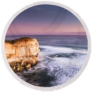 Great Ocean Road Seascape Round Beach Towel