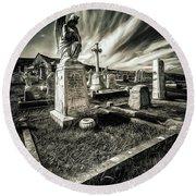 Great Orme Graveyard Round Beach Towel