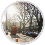 Great Russell St. In The Afternoon Round Beach Towel