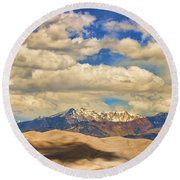 Great Sand Dunes National Monument Round Beach Towel by James BO  Insogna