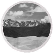 Great Sand Dunes Panorama 1 Bw Round Beach Towel by James BO  Insogna