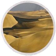Great Sand Sea Round Beach Towel