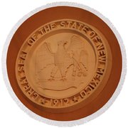 Great Seal Of The State Of New Mexico 1912 Round Beach Towel