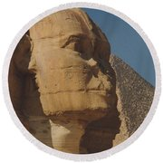 Great Sphinx Of Giza Round Beach Towel