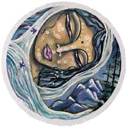 Great Star Mother Round Beach Towel