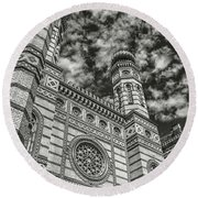Great Synagogue Round Beach Towel