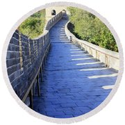 Great Wall Pathway Round Beach Towel