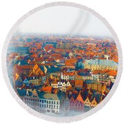 Greatest Small Cities In The World Round Beach Towel