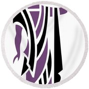 Greek Man In Purple Round Beach Towel
