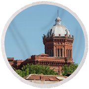 Greek Orthodox College Dome Round Beach Towel