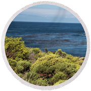 Green And Blue Round Beach Towel