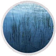 Green And Blue Serenity - Smooth Wetland Morning Round Beach Towel