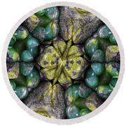 Green And Blue Stones 2 Round Beach Towel