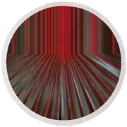 Red Room Round Beach Towel