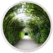 Green Arbor Of Mirabell Garden Round Beach Towel